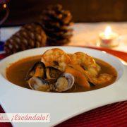 Sopa de marisco, receta facil y casera