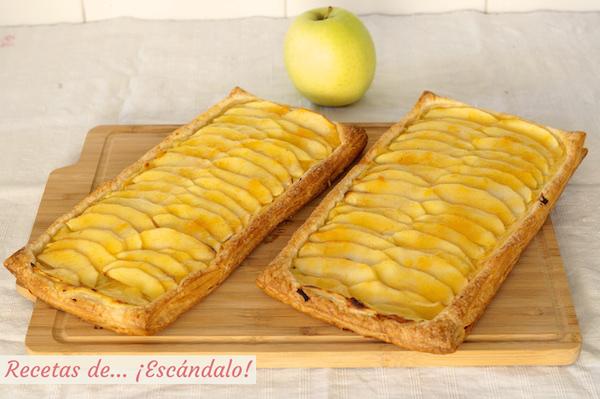 Receta de tarta de manzana casera con hojaldre y crema pastelera