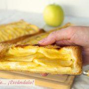 Tarta de manzana con hojaldre y crema pastelera