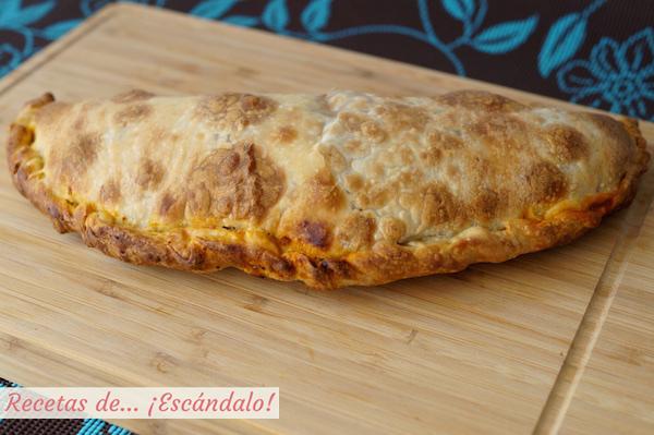 Pizza calzone crujiente