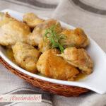 Receta de pollo en salsa al ajillo