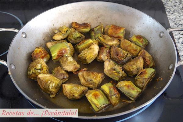 Alcachofas para el arroz con verduras