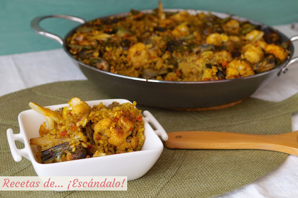 Receta de arroz con verduras o paella de verduras
