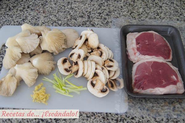 Ingredientes para el tournedo de cordero