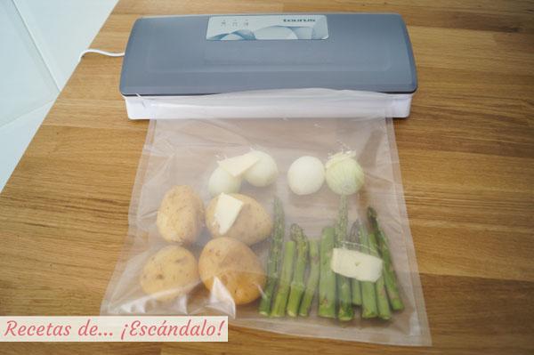 Verduras en bolsa de vacio