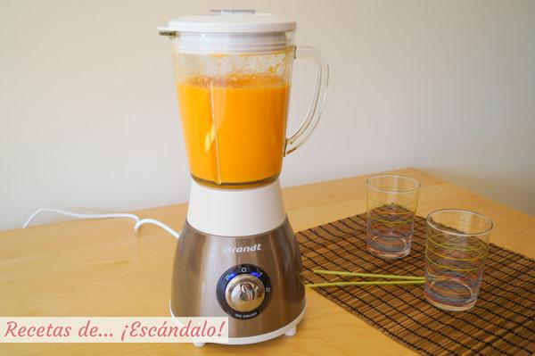Batido de zanahoria, naranja y jengibre