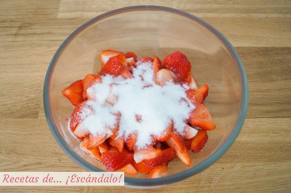 Fresas con azucar
