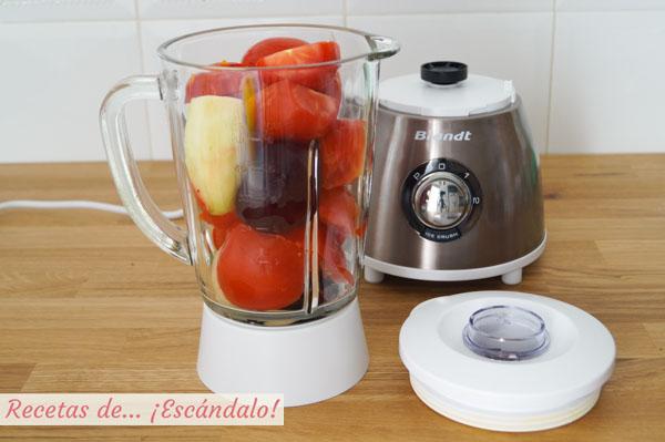 Ingredientes gazpacho de remolacha
