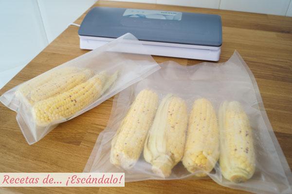 Mazorcas de maiz al vacio