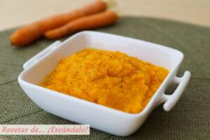 Pure de zanahoria y jengibre, muy facil