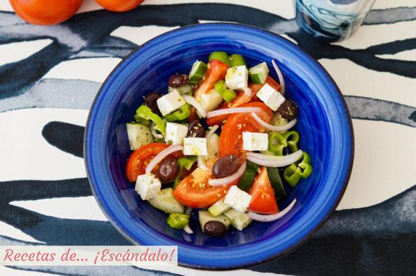 Receta de ensalada griega original