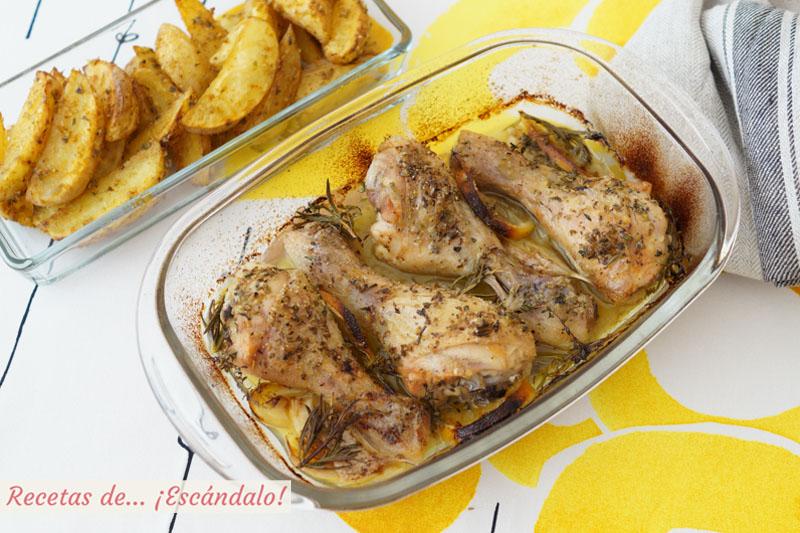 Muslos de pollo al horno con limon