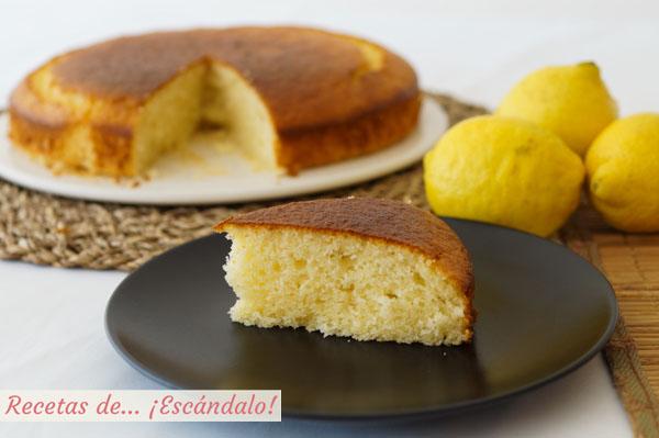 Receta facil de bizcocho de limon y yogur muy esponjoso