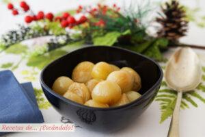 Cebollitas francesas glaseadas (y caramelizadas). Guarnicion ideal para carnes y pescados