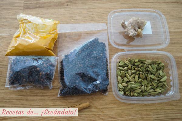 Especias para golden milk o leche dorada