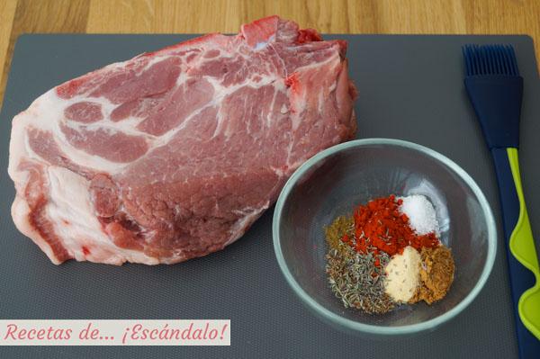 Ingredientes pulled pork