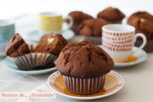 Muffins de chocolate. Receta muy facil y riquisima