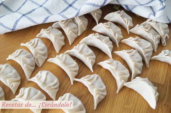 Gyozas o empanadillas japonesas, dumplings