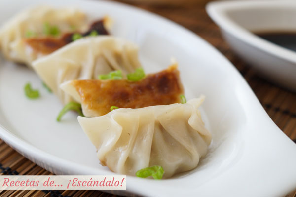 Receta de gyozas o empanadillas japonesas, un dumpling delicioso
