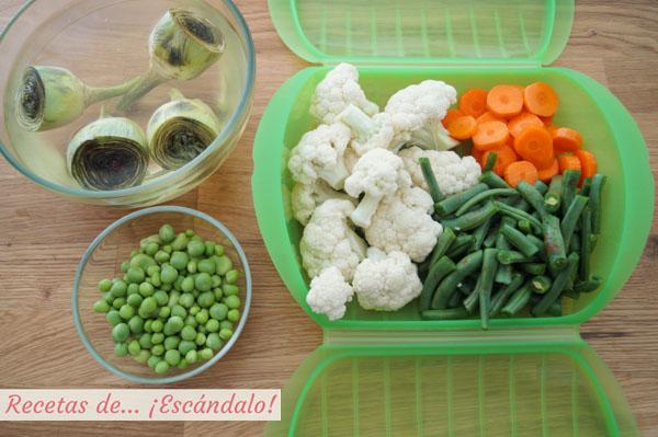 Verduras para la menestra