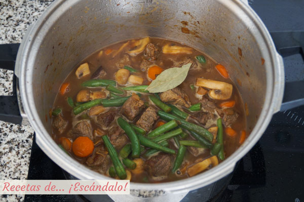Carne guisada con verduras