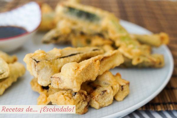 Como hacer tempura de verduras crujiente