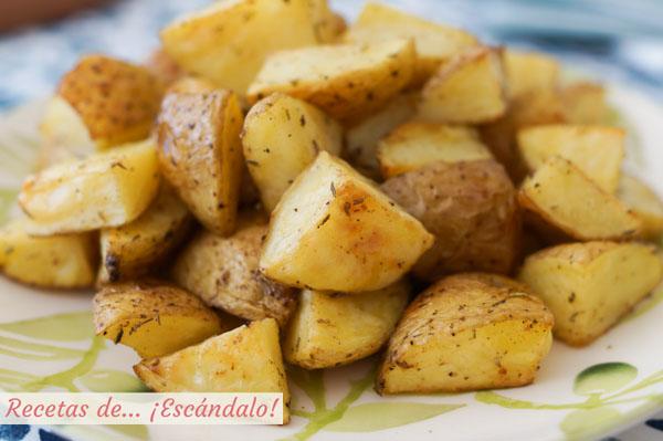 Como hacer patatas al horno asadas, la guarnicion ideal o aperitivo