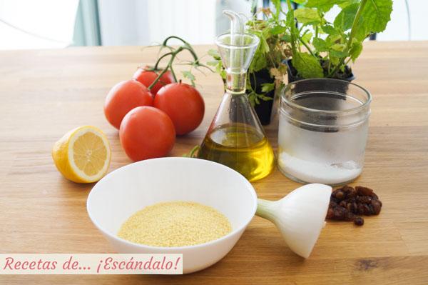 Ingredientes para tabule