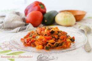 Pisto manchego de verduras tradicional, muy facil y sabroso