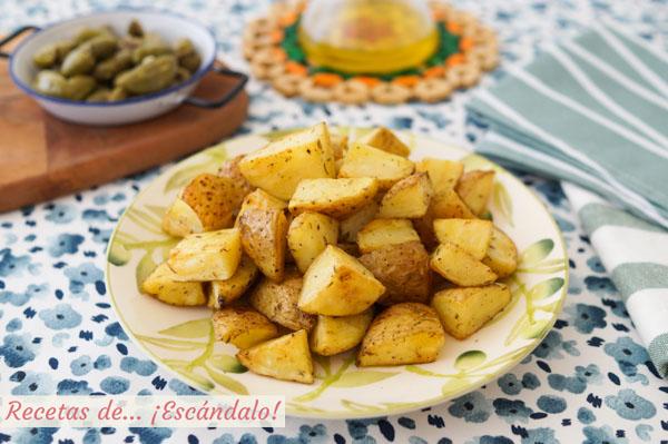 Receta de patatas al horno asadas, la guarnicion ideal o aperitivo