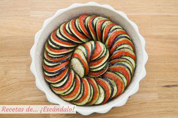 Ratatouille de verduras al horno
