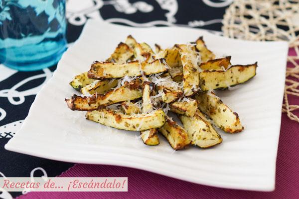 Receta facil y saludable de calabacines al horno con queso parmesano