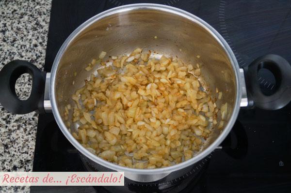 Sofrito de cebolla