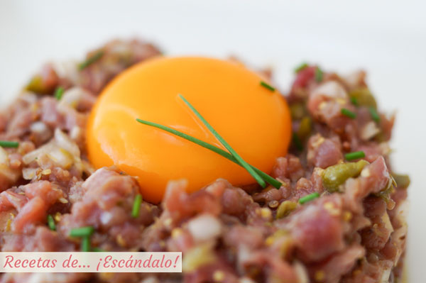 Steak tartar de carne