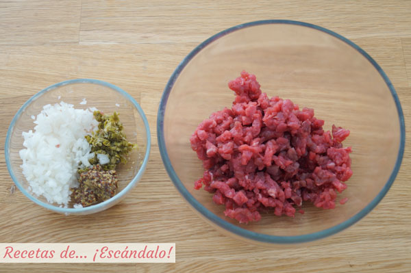 Steak tartare de solomillo de ternera
