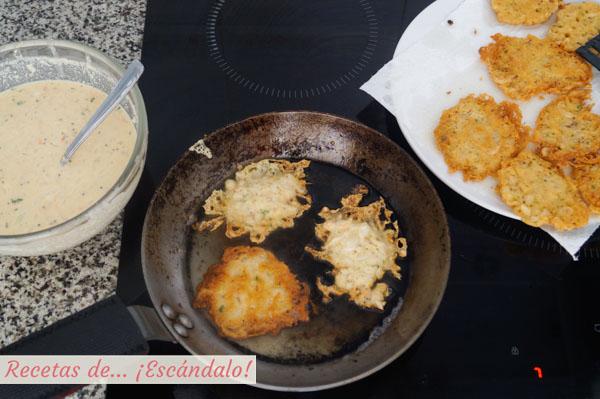 Como hacer tortillitas de camarones
