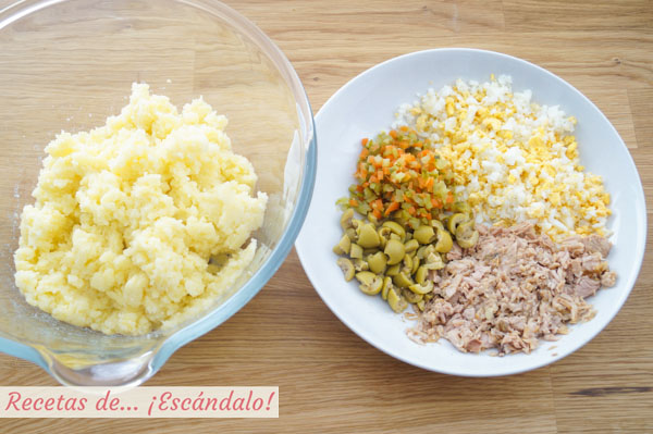 Ingredientes ensaladilla rusa clasica tradicional