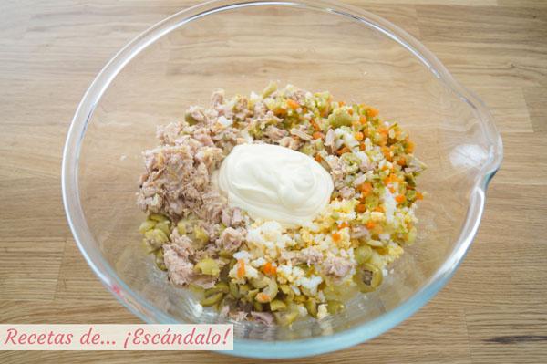 Ingredientes para la ensalada rusa