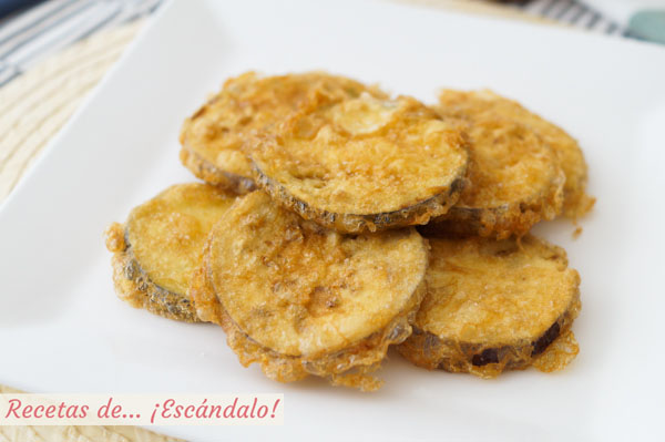 Receta de berenjenas rebozadas fritas y crujientes sin que te queden aceitosas