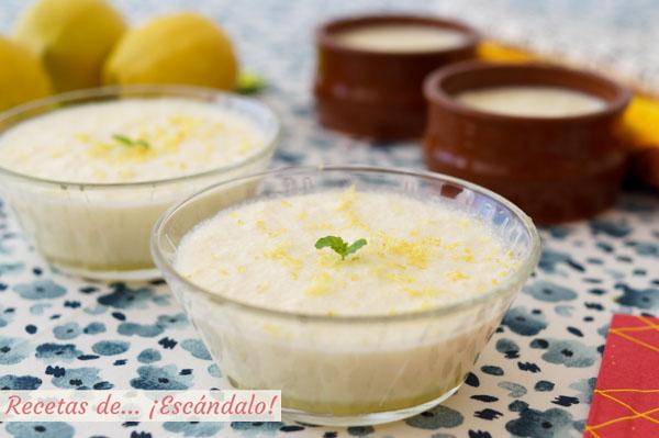 Receta de mousse de limon con leche condensada. Postre facil