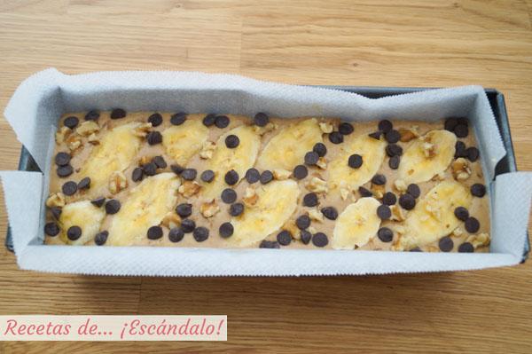 Banana bread, pan de platano o bizcocho de platano