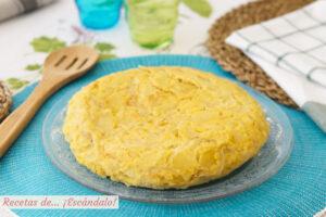 Tortilla de patatas, como hacer la mejor. Receta con o sin cebolla