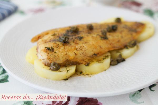 Como hacer lenguado a la Meuniere o Menier. Receta francesa de pescado