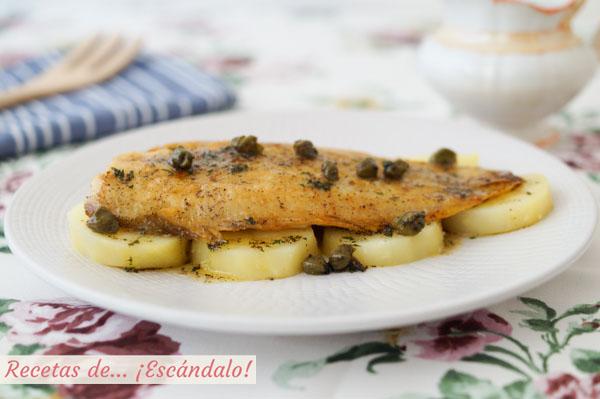 Receta de lenguado a la Meuniere o Menier. Receta francesa de pescado