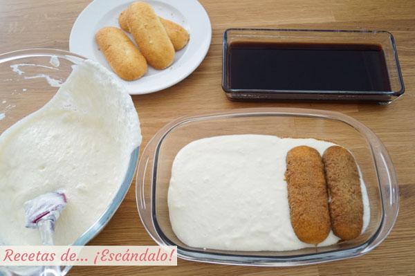 Receta de tiramisu casero con queso mascarpone