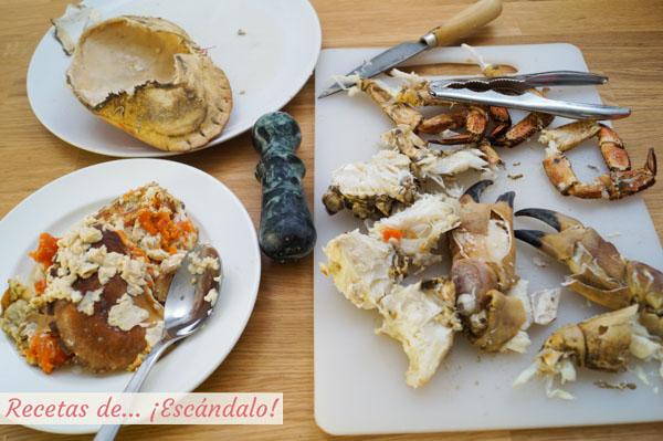 Como preparar un buey de mar cocido