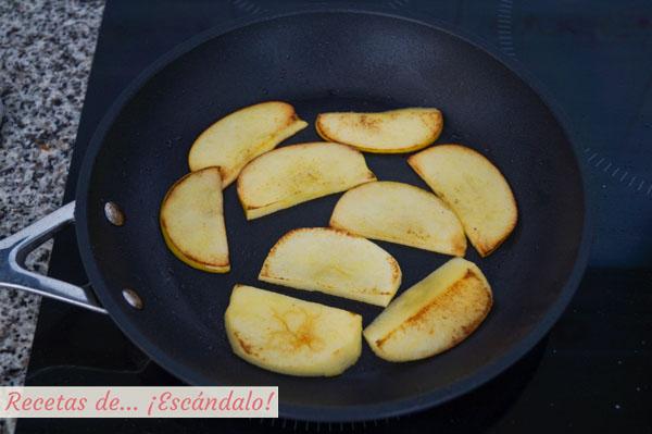 Manzana a la plancha