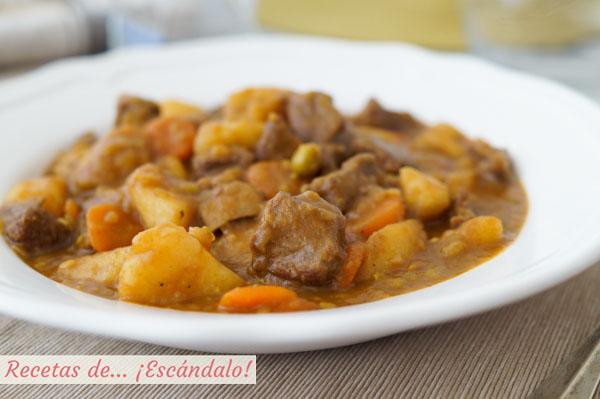 Estofado De Ternera Con Patatas Y Verduras Receta De Carne En Salsa