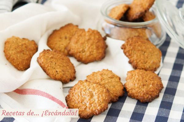 Receta de galletas de avena caseras y muy faciles
