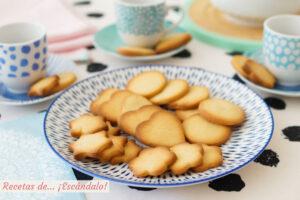 Receta de galletas de mantequilla caseras o pastas de te, muy faciles